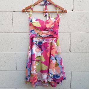 Guess Veronica Watermark Halter Dress Size 4